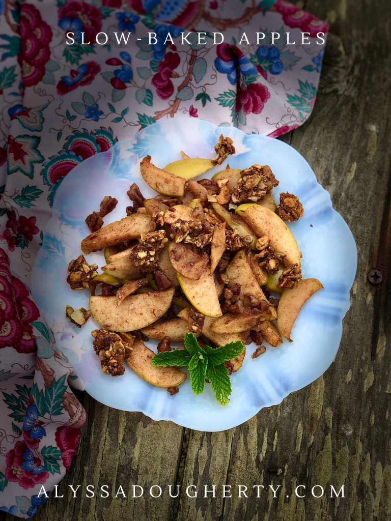 Baked spiced apple slices